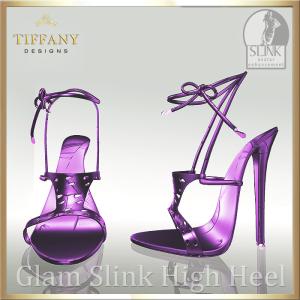TD Glam Slink Shoes Purple