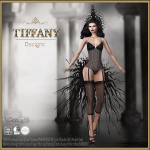 Lingerie TD Camila with Appliers - black v