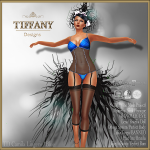 Lingerie TD Camila with Appliers - blue