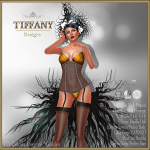 Lingerie TD Camila with Appliers - Golden