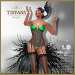 Lingerie TD Camila with Appliers - Green
