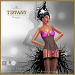 Lingerie TD Camila with Appliers - Pink