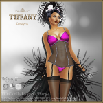 Lingerie TD Camila with Appliers - Purple