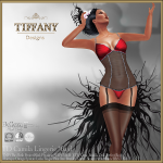 Lingerie TD Camila with Appliers - Red