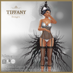 Lingerie TD Camila with Appliers - Silver