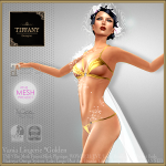 Lingerie TD Vania with Appliers - Golden