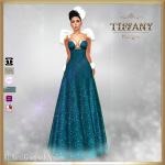 TD KL Santa Gown with Appliers - Blue