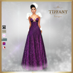 TD KL Santa Gown with Appliers - Purple