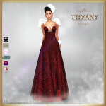 TD KL Santa Gown with Appliers - Red