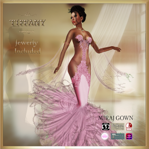 TD Miraj Gown with Appliers Pink