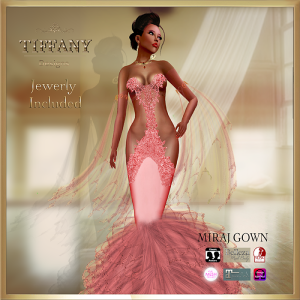 TD Miraj Gown with Appliers Red