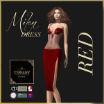 TD Millan Dress with Appliers Red