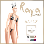 TD Raya Swimsuit with Appliers Black