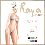 TD Raya Swimsuit with Appliers Blue