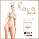 TD Raya Swimsuit with Appliers Green