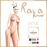TD Raya Swimsuit with Appliers Pink
