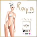 TD Raya Swimsuit with Appliers White