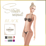 TD Susan Swimsuit with Appliers Black