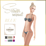 TD Susan Swimsuit with Appliers Blue
