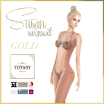 TD Susan Swimsuit with Appliers Golden