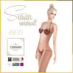 TD Susan Swimsuit with Appliers Red