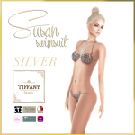TD Susan Swimsuit with Appliers Silver