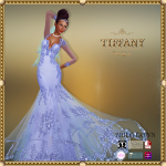 TD Brida Gown with Appliers Azul