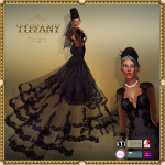 TD Brida Gown with Appliers Black