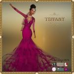 TD Brida Gown with Appliers Purple