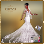TD Brida Gown with Appliers White