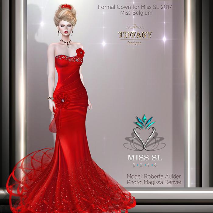 TD Miss SL 2017 Formal Gown - Miss Belgium