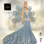 TD Solstice Gown with Appliers Azul