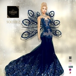 TD Solstice Gown with Appliers Blue