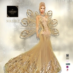 TD Solstice Gown with Appliers Cream