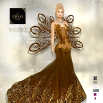 TD Solstice Gown with Appliers Gold