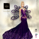 TD Solstice Gown with Appliers Purple