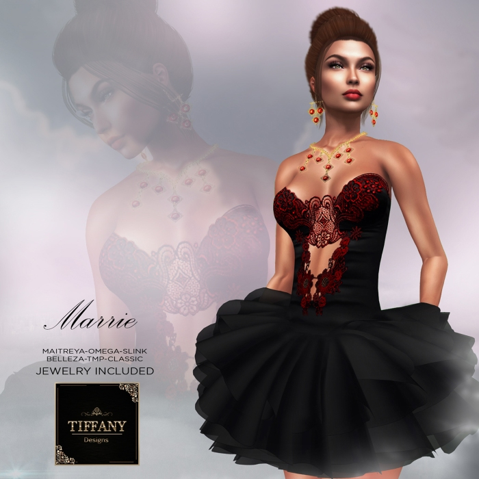 TD Marrie Dress with Appliers