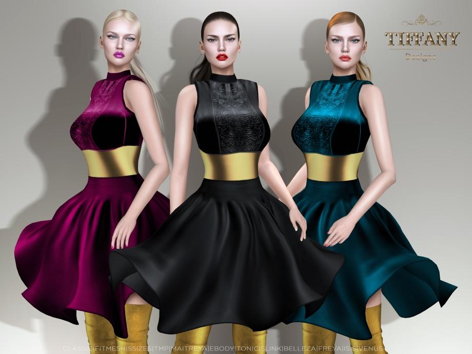 TD Sophia Fitmesh Dress - BANNER