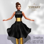 TD Sophia Fitmesh Dress Black