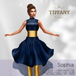 TD Sophia Fitmesh Dress Blue