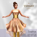 TD Sophia Fitmesh Dress Cream