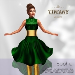 TD Sophia Fitmesh Dress Green