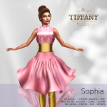 TD Sophia Fitmesh Dress Pink