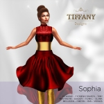 TD Sophia Fitmesh Dress Red