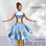 TD Sophia Fitmesh Dress Sky