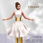 TD Sophia Fitmesh Dress White