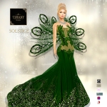 TD Solstice Gown with Appliers Green