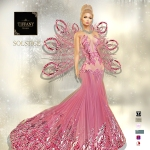 TD Solstice Gown with Appliers Pink