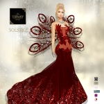 TD Solstice Gown with Appliers Red