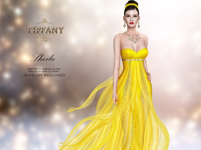 TD Sheila Gown with Appliers Yellow